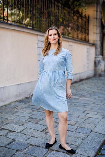 5a7b0a738840 Tehotenské šaty DENIM BELLY - Donee the Label - lokálna móda