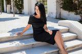 Tehotenské šaty OFF SHOULDER BLACK - letná verzia