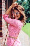 Košeľové šaty STRIPES pink