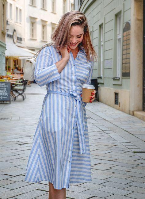 Košeľové šaty STRIPES blue
