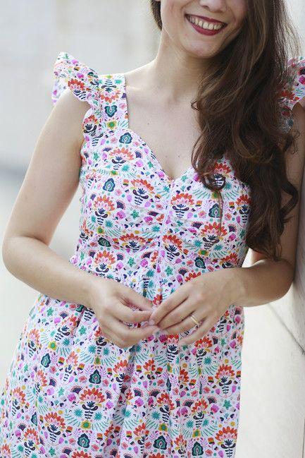 Šaty AMÉLIE na dojčenie folky