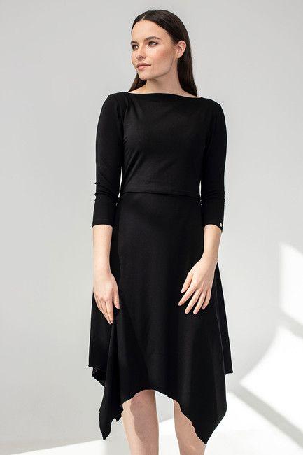 """Šaty na dojčenie """"CÍPOVÉ"""" čierne"""