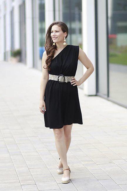 Šaty EDEN na dojčenie - čierne