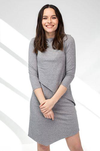 Šaty CIK-CAK na dojčenie šedé