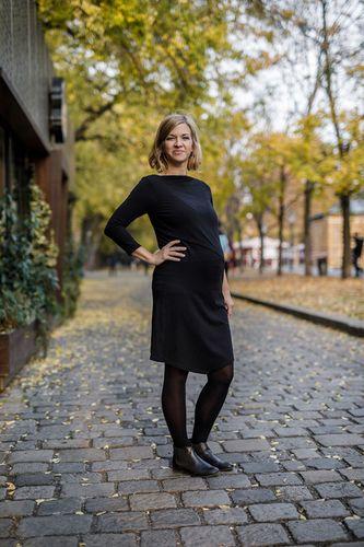 Šaty CIK-CAK na dojčenie - čierne