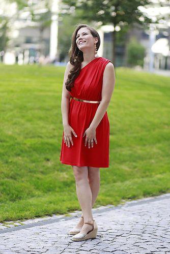 Šaty EDEN na dojčenie - červené